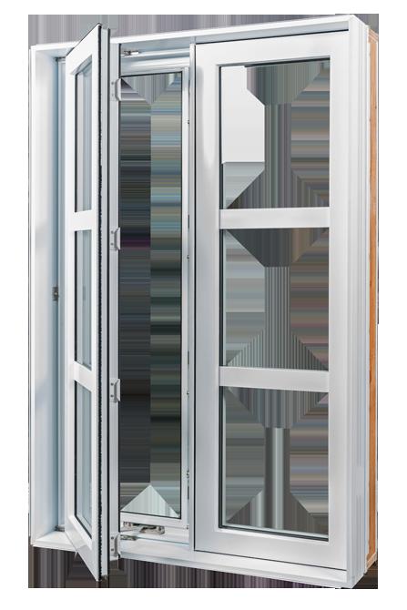 Casement windows best features view closeup with casement for Fenetre guillotine pvc france
