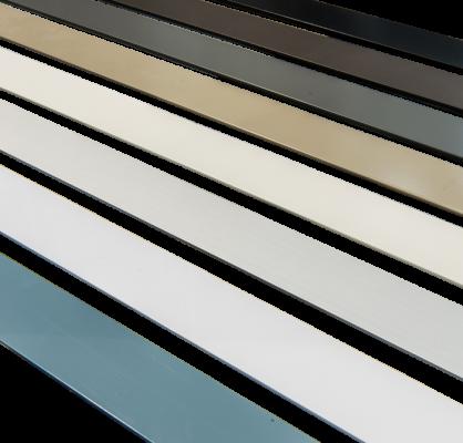 Une gamme de couleurs complète