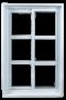 Fenêtre coulissante, finition intérieure